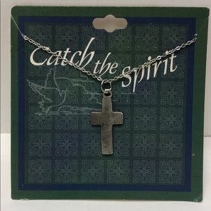Jewelry - Catch The Spirit Cross Silver Necklace new